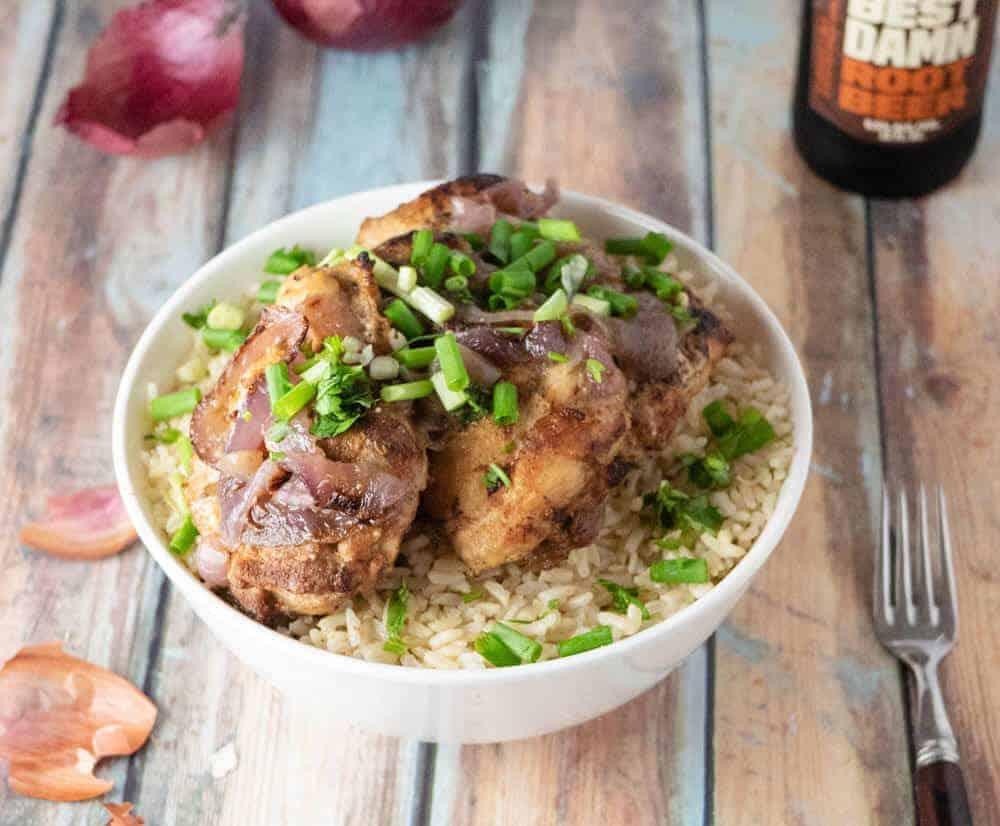 instant pot greek chicken above view