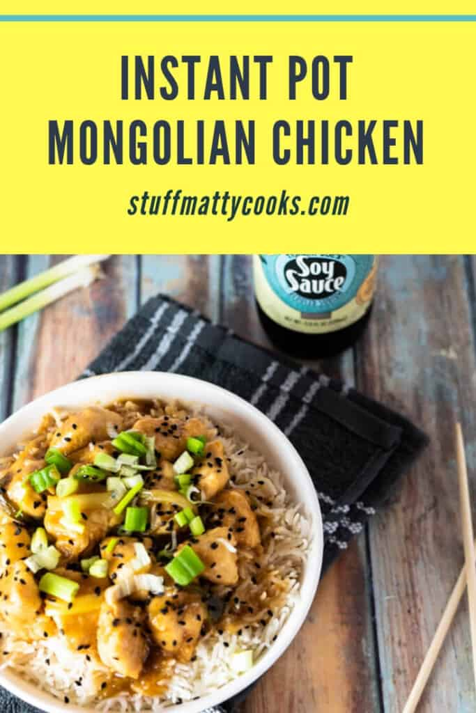 instant pot mongolian chicken pinterest banner