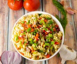 Instant Pot Vegetarian Pasta Salad Recipe