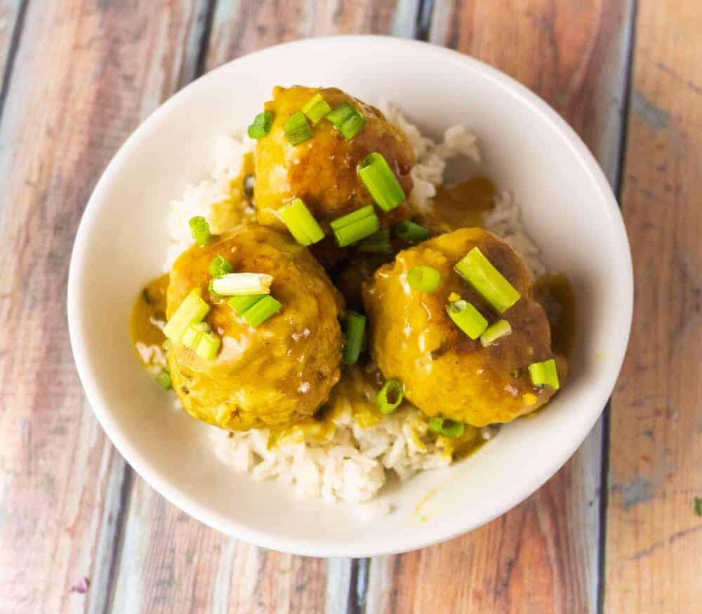 Easy to Chicken Curry Meatballs in the Instant Pot