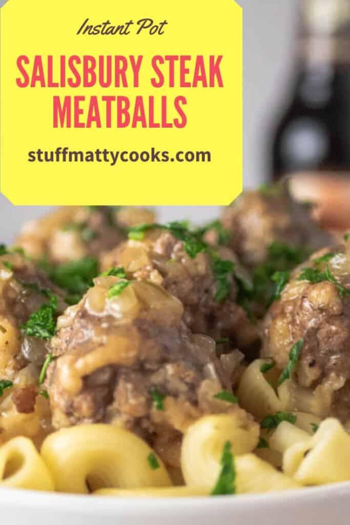 Salisbury steak meatballs recipe on Pinterest