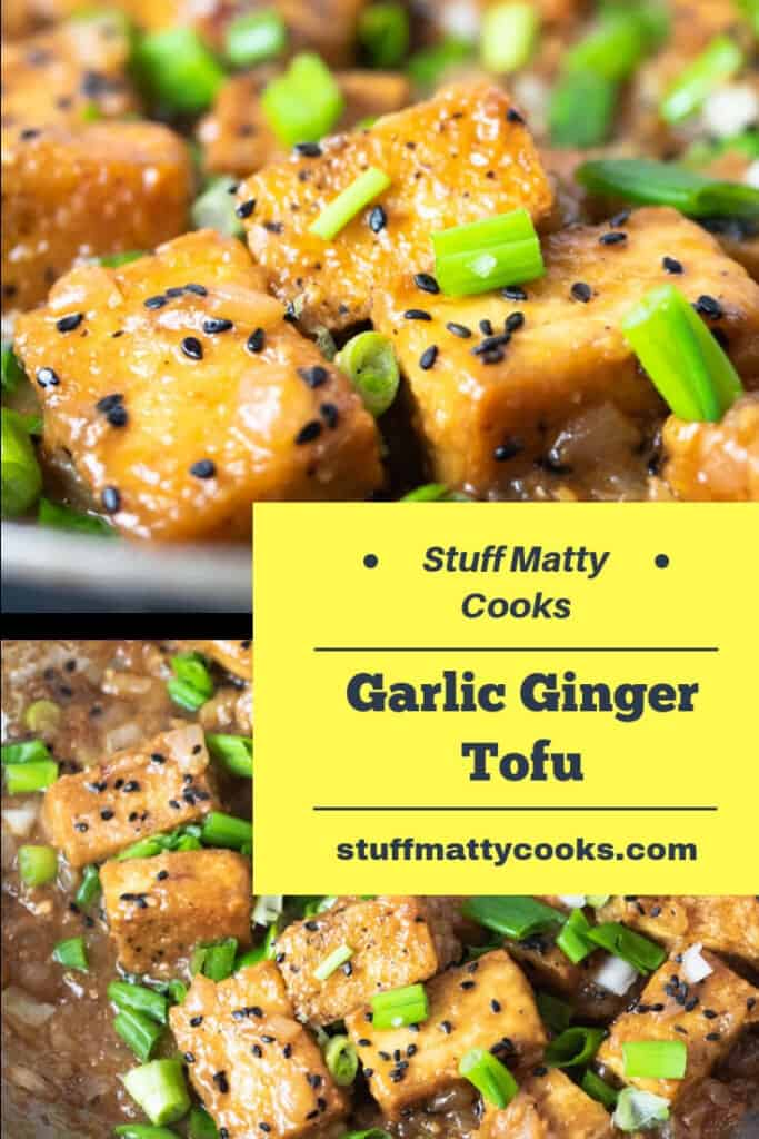 Ginger Garlic Tofu Stir Fry is loaded with garlic and a bit of ginger. This dish is loaded with texture and flavor and sure to be a favorite.