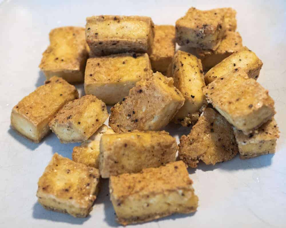 Baked Tofu adds texture and color to tofu making is a bit crunchy and delicious