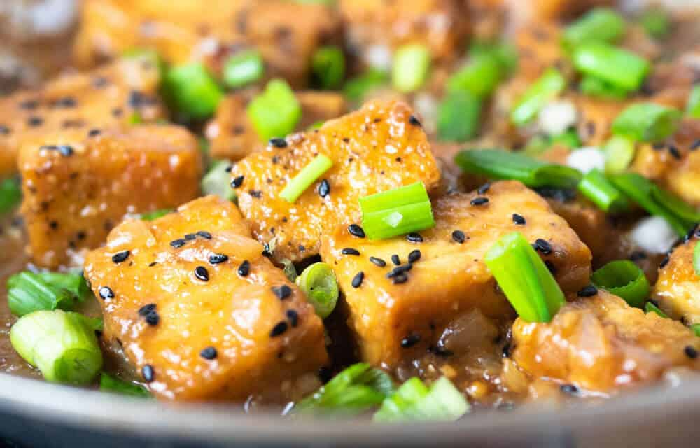 This Ginger Garlic Tofu Stir Fry has texture and flavor and is also Vegan and delicious with an Asian set of flavors