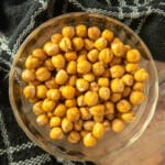 This air fryer chickpeas recipe is quick and easy. It is the perfect snack. Done in 15 minutes and can be seasoned with anything you like. Great weight watchers recipe. This recipe is also vegan and gluten free.