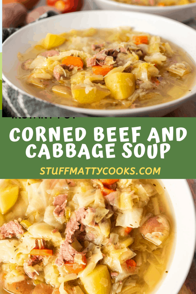 Corned Beef Cabbage Soup Pin Image