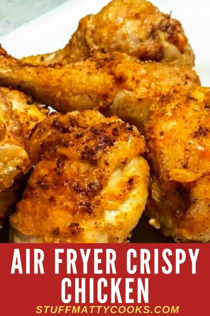Air Fryer Fried Chicken Pinterest Pin Image