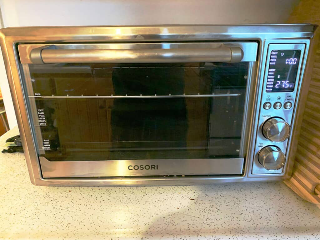 stainless steel cosori air fryer toaster oven