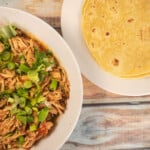 Instant Pot Pulled Chicken at tortillas.