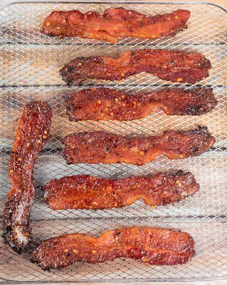 above view of million dollar candied bacon