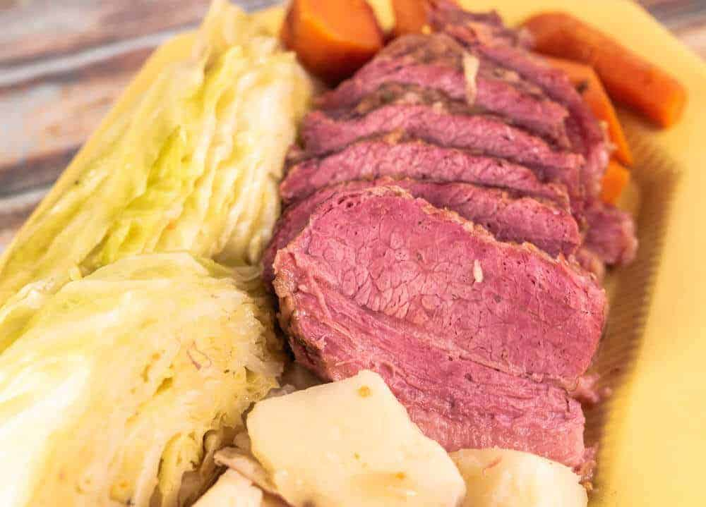 Corned Beef and Cabbage in the Pressure Cooker Front Photo