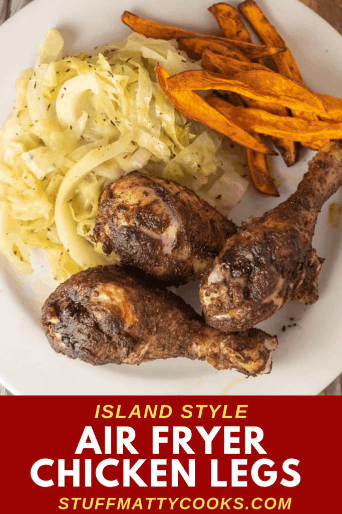 air fryer chicken drumsticks are like jerk chicken without the spice.