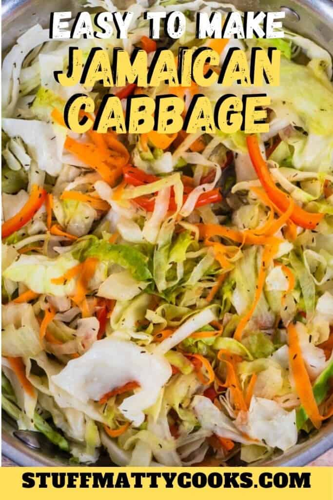 Easy Jamaican Cabbage Recipe Pin