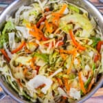 Jamican Cabbage above in pan