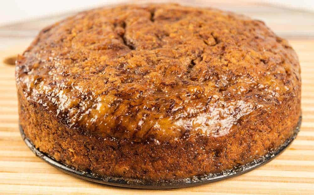 Pressure cooker banana bread on counter