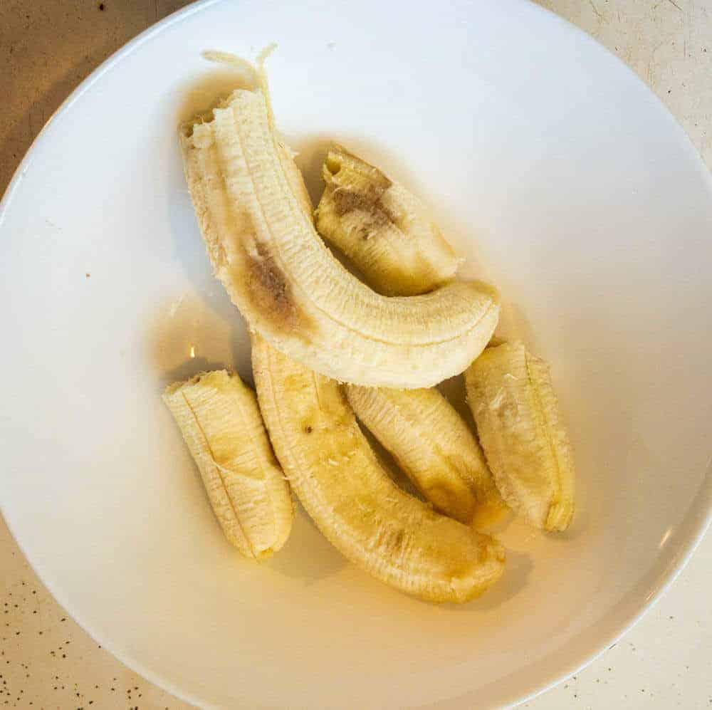 Ovveripe bananas for use in pressure cooker banana bread