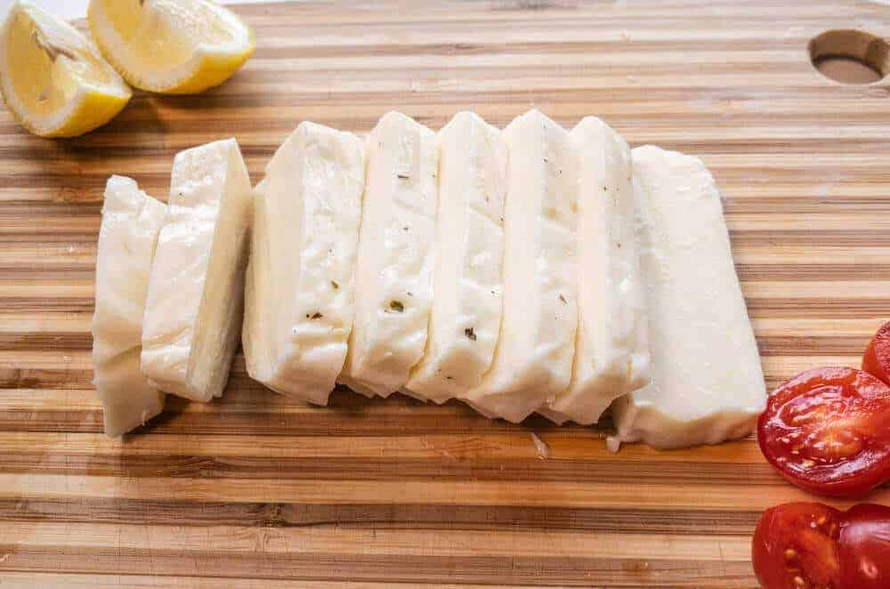 Halloumi Cheese cut into slices