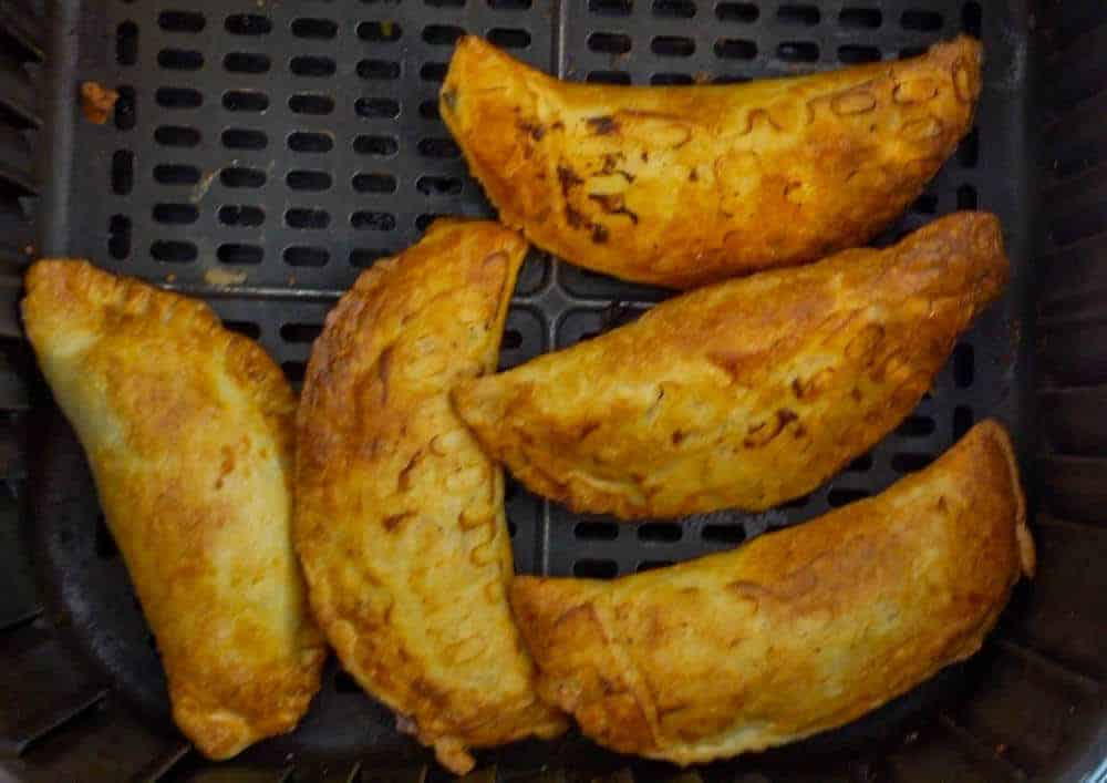 cooked empanadas in air fryer