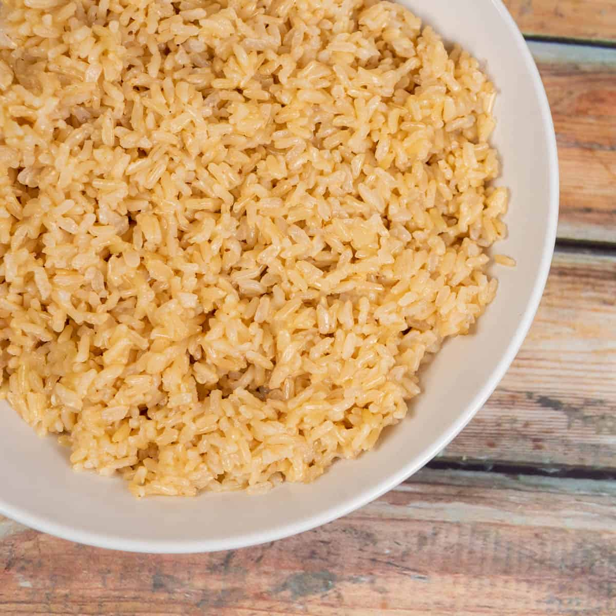 Brown Rice Close Up Above