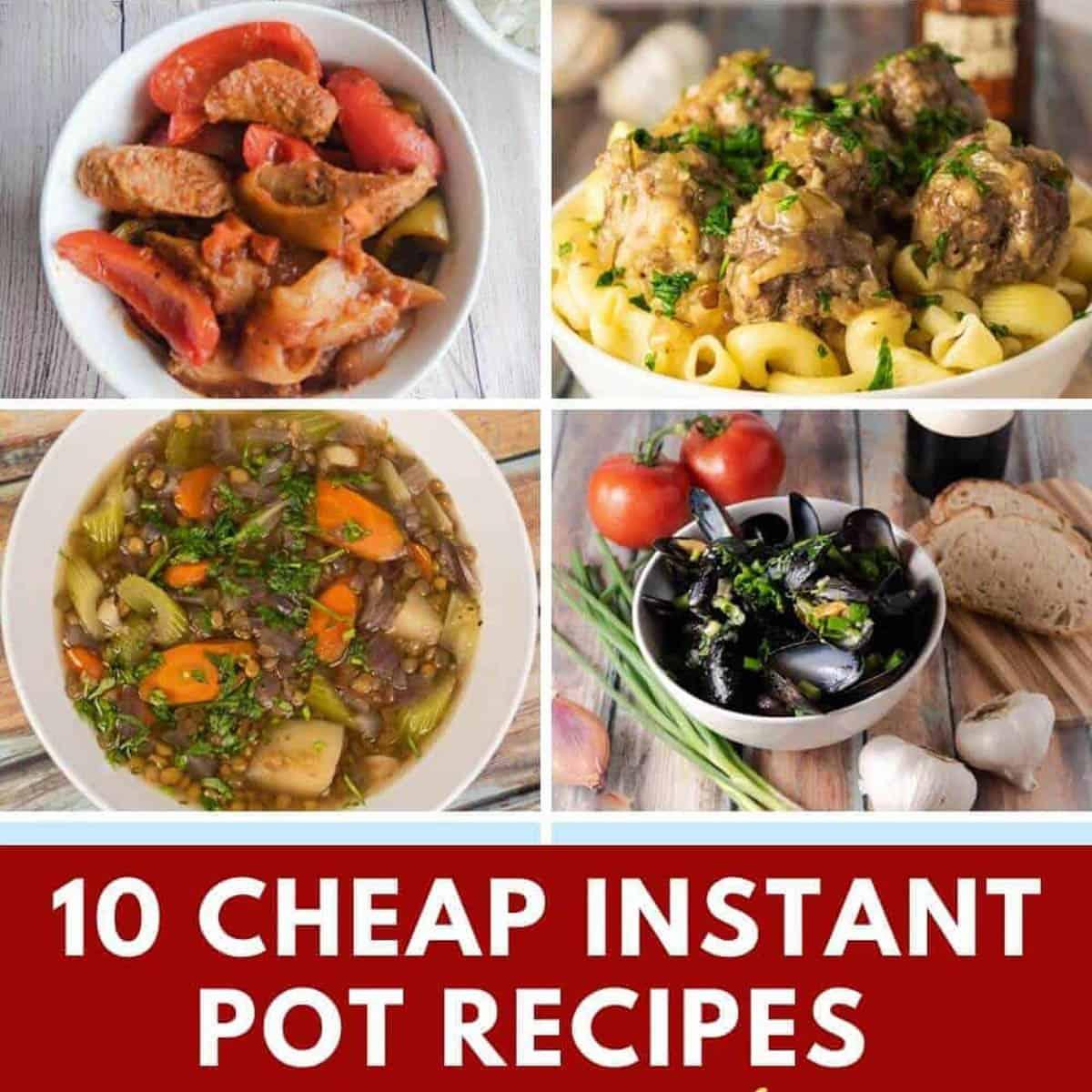 10 cheap instant pot recipes under $10