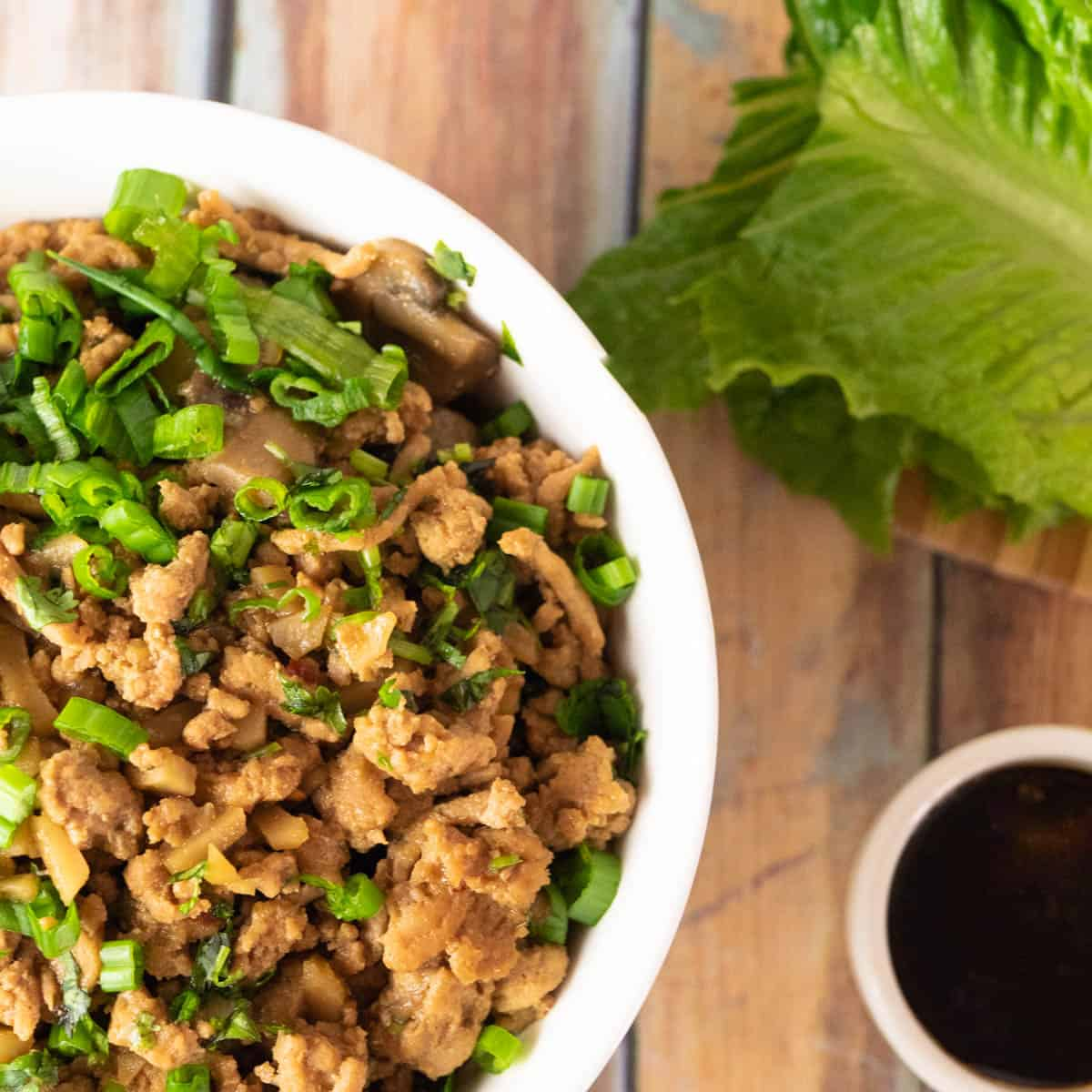 These healthy chicken lettuce wraps are easy to make and better than P.F. Changs
