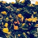 instant pot collard greens close up