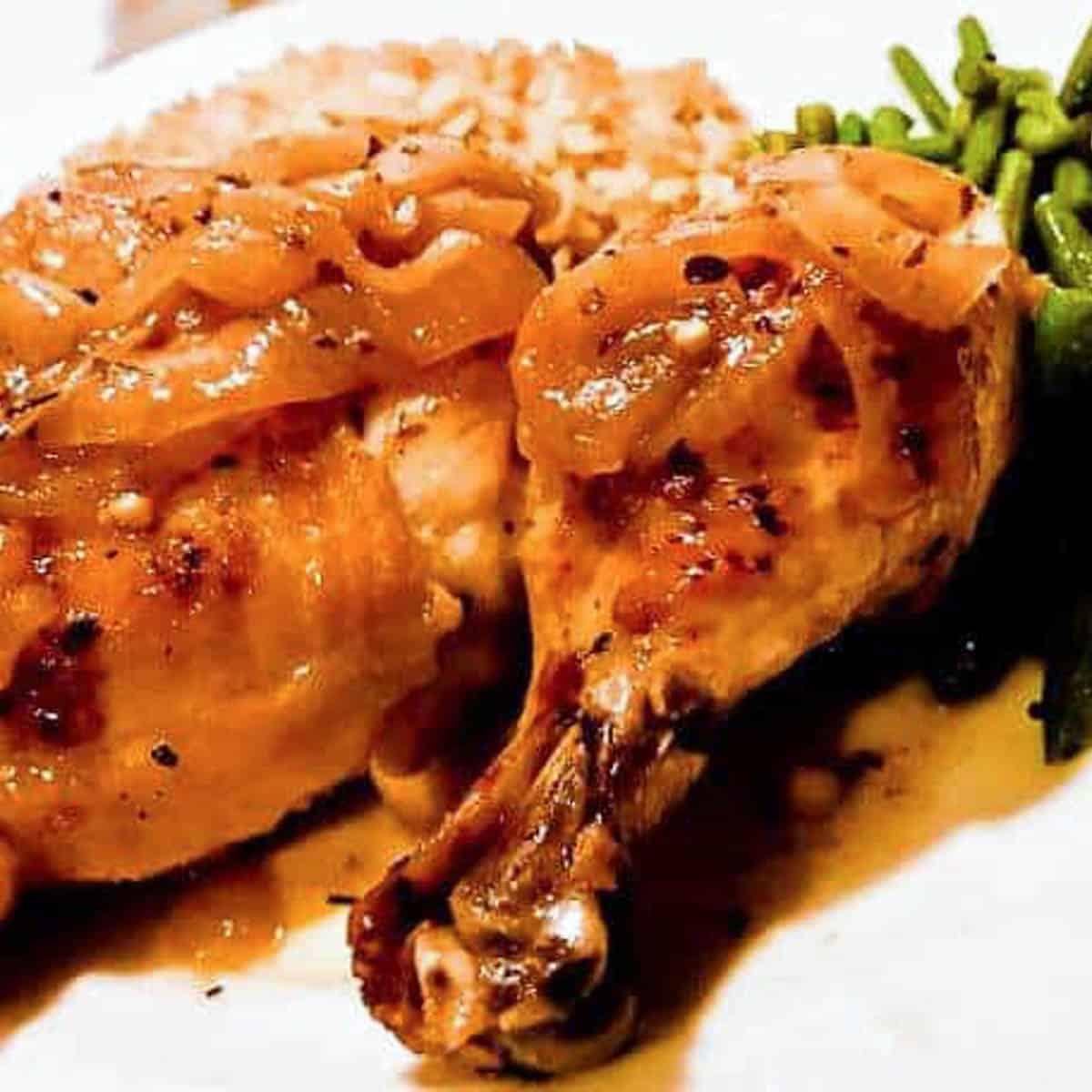 instant pot mediterranean chicken close up