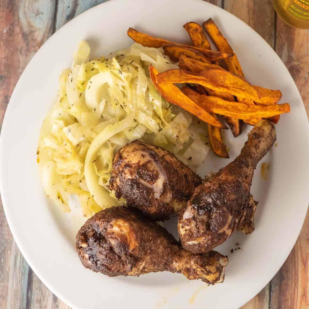air fryer chicken legs featured image