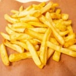 air fryer frozen french fries close up featured image