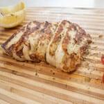 halloumi pan fried cheese close up