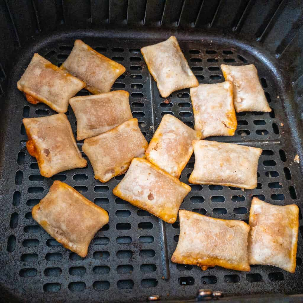 frozen pizza rolls in air fryer basket